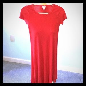 Mossimo Supply Co Red Jersey Knit Dress  Small NWT